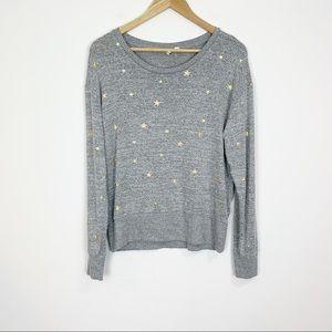 GAP Star Print Crewneck Sweater Size Medium